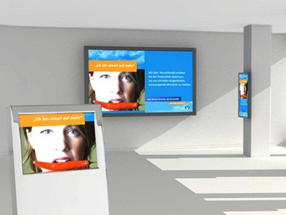 engram zeigt Ereignisgesteuerte Werbung am PoS auf der EuroCIS (Bild: engram)