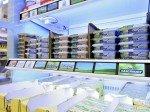 Frischeregale mit Displays im real,- Future Store in Tönis Vorst