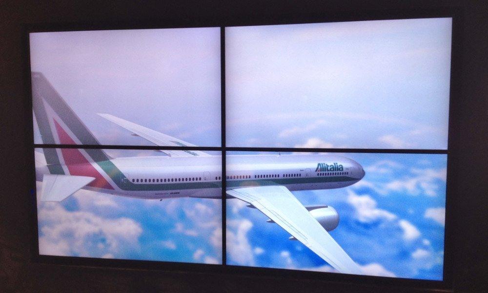 3D Videowall von Alitalia