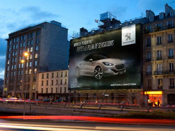 Großflächenwerbung schwächelte - Kampagne für Peugeot in Frankreich (Foto: JCDecaux SA)