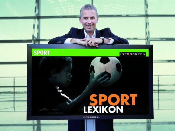 Sport ergänzt den City Channel - Infoscreen-Geschäftsführer Franz Solta (Foto: Christoph Breneis/Montage)