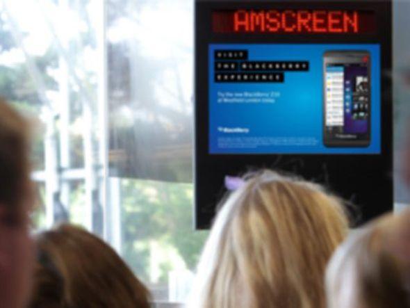 BlackBerry nutzt Amscreen-Netz in UK für Z10-Kampagne