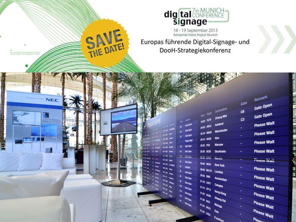 NEC auf der Digital Signage Conference Munich