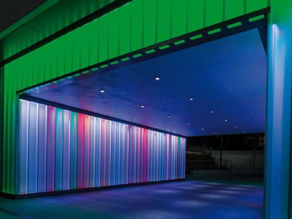 Hess-Umsetzung - LED-beleuchtete Unterführung im niederrheinischen Geldern (Foto: Hess AG)