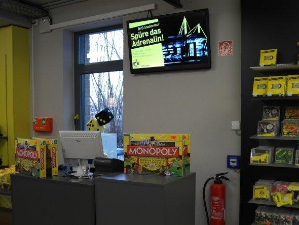 kompas im Einsatz beim Bundesligisten: Fan-Shop von Borussia Dortmund (Foto: dimedis)