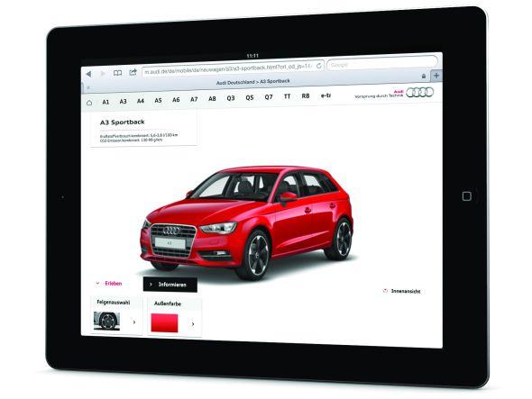 Das Brand Portal der neuen Audi-App (Foto: SapientNitro)