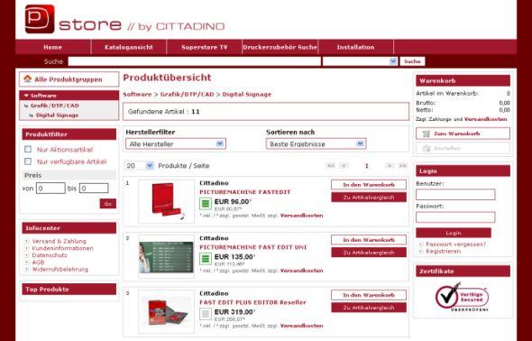 Der neue Shop soll mehr Übersichtlichkeit und Informationen bringen (Foto: Cittadino)