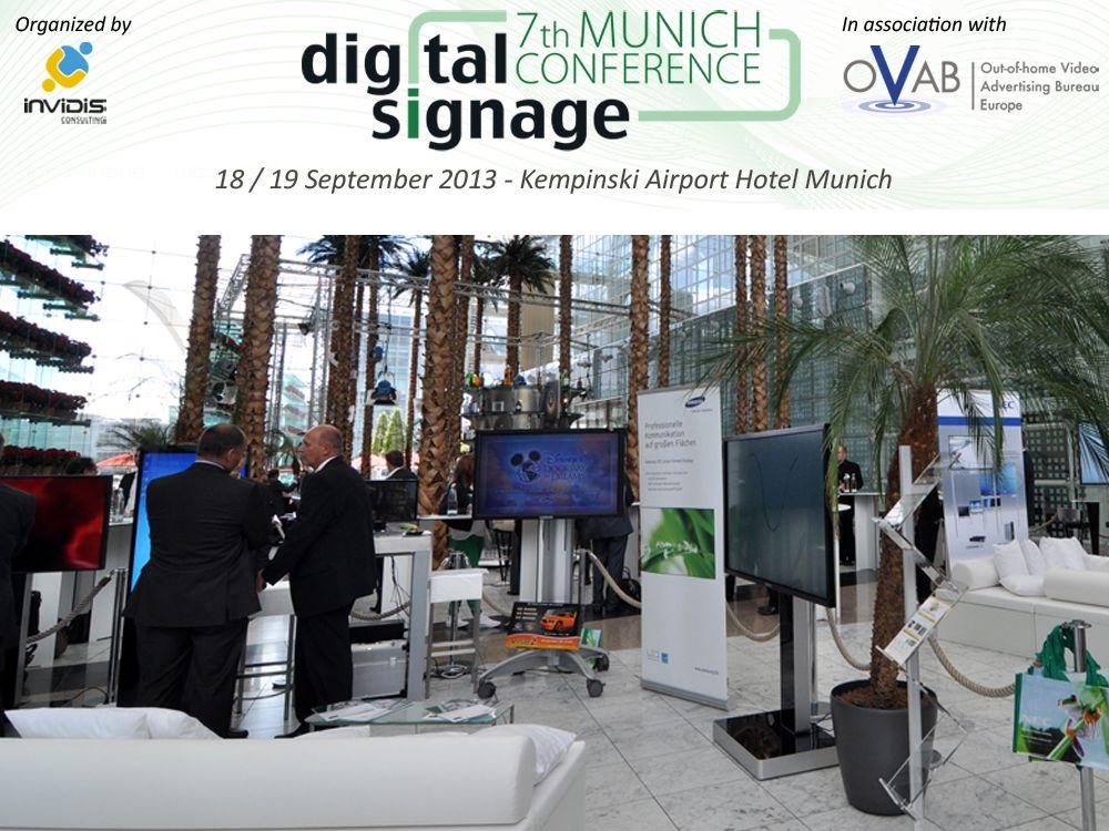 Auch in diesem Jahr wieder Gold-Sponsor auf der Digital Signage Conference Munich: Samsung