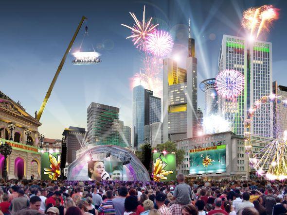 Beim Wolkenkratzerfestival 2013 get es hoch her (Fotomontage: FFH)