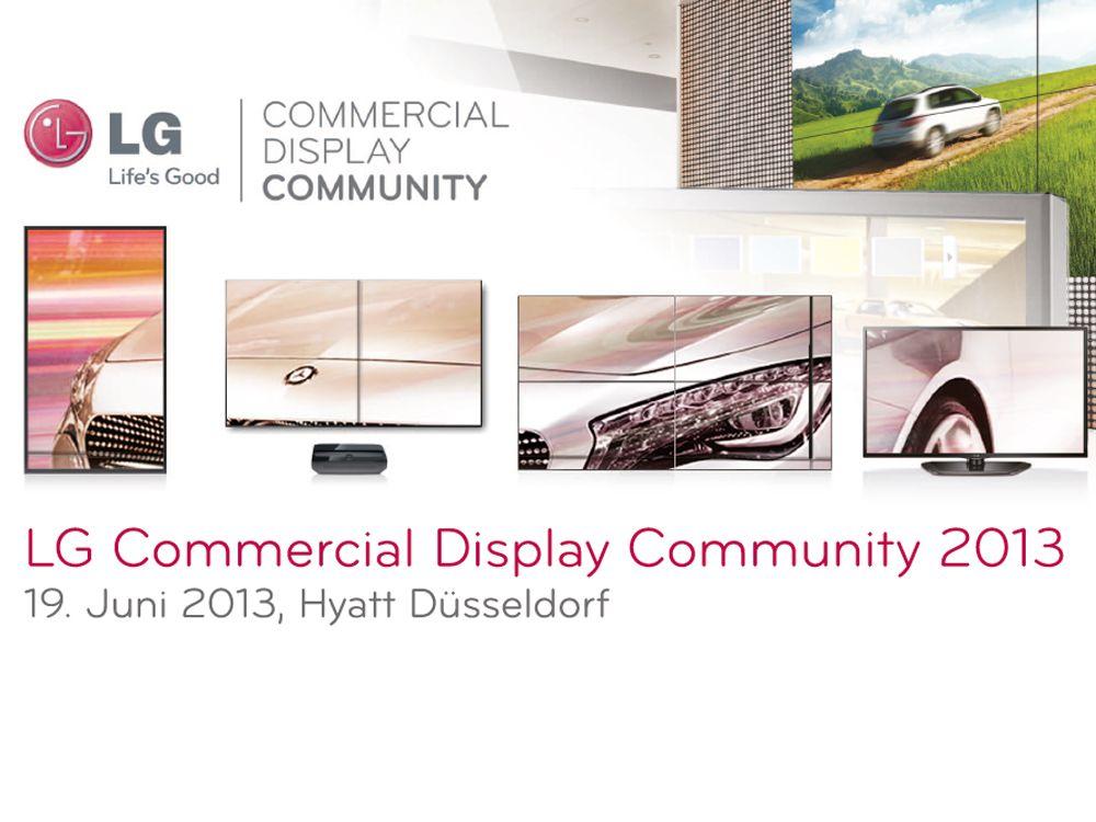"""LG lädt ein zur """"LG Commercial Display Community 2013"""""""