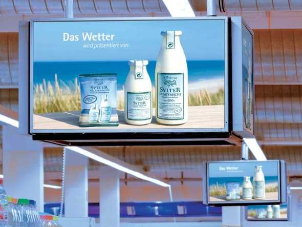 Die Milch macht's - und der TKP: mit dem Food Channel bündelt Neo die Displays bei vier Lebensmittelketten (Foto: Neo Advertising)