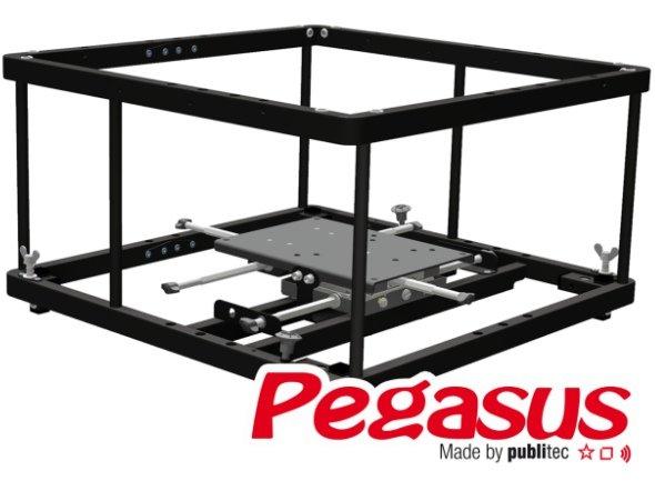Neuer Rahmen Pegasus 4 von publitec für Projektoren bis 25 Kilogramm (Foto: publitec)