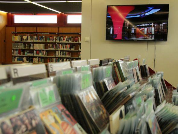 Das Display des System auf der Medienetage (Foto: dimedis)