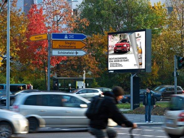 An der Urania, Berlin - Hier kann künftig auch doppelseitig geworben werden (Foto: Wall AG)