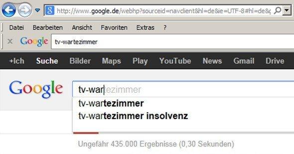 TV Wartezimmer vs. Google