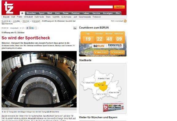 Sport Scheck Flagshipstore (Screenshot TZ)