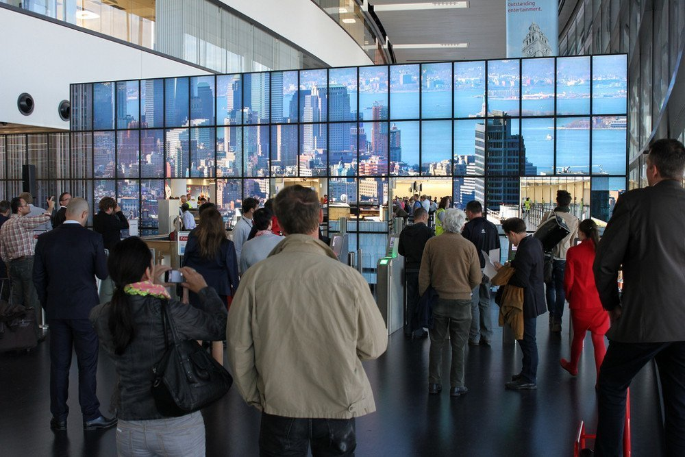 Gigapixel New York City am Flughafen Wien / Foto: Ars Electronica