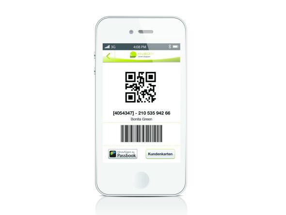 Mit dem eingescannten Code wird an der PoS-Kasse ein digitaler Bon erstellt und aufs Smartphone geschickt (Foto: NuBON)