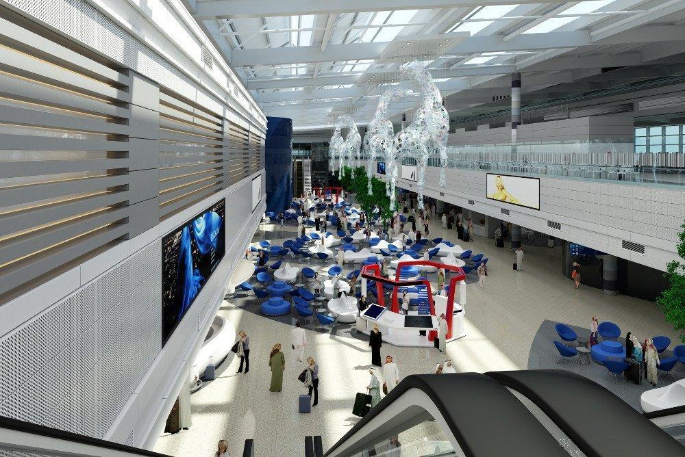 Viel Digital im Dubai Airport Concourse D (Foto: DXB)