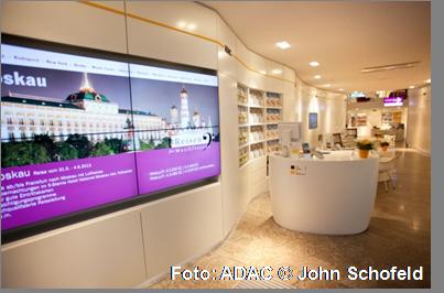 Neues Digital Signage-System in Geschäftsstellen des ADAC