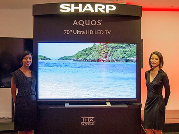 Vorstellung des ersten Sharp Ultra HD Displays (Foto: Sharp)