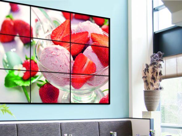 SoC im Einsatz - die Large Format Displays kommen von Samsung (Foto: Adversign Media)