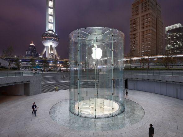 Verkauft bald keine iPad minis mit Displays aus Tawan: Apple Store in Shanghais Viertel Pudong (Foto: Apple)