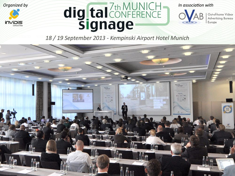Das Rahmenprogramm zur Digital Signage Conference steht