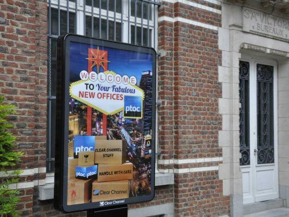 Eingang zu PTOCs neuer Zentrale in Brüssel (Foto: PTOC)
