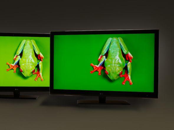 Mehr Farbe und heller - Rechts im Bild: LCD-Display mit QDEF (Foto: 3M)