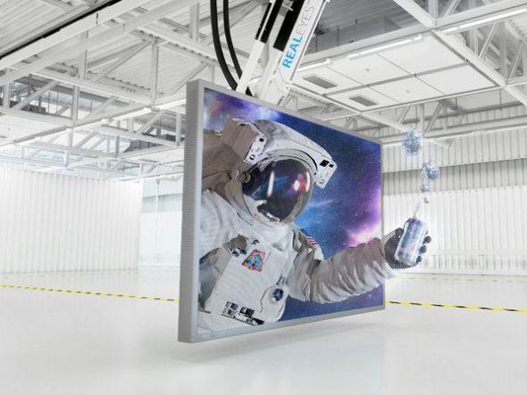 hologrammposter mercedes startet kampagne 3d an drei deutschen airports invidis. Black Bedroom Furniture Sets. Home Design Ideas