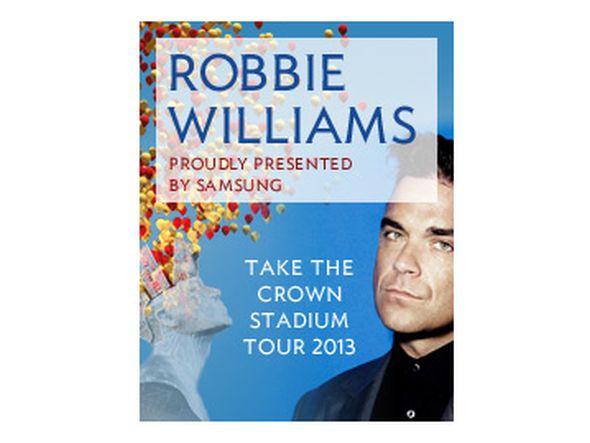 Samsung sponsert die Robbie Williams Tour 2013 (Foto: Samsung)