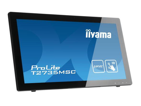 Mit dem ProLite T2735MSC werden Touch-Funktionen unter Win7 und Win8 unterstützt (Foto: iiyama)