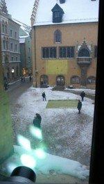 Projektor in Regensburg im Einsatz für die Kulturhauptstadt 2015 (Foto: CeBB)