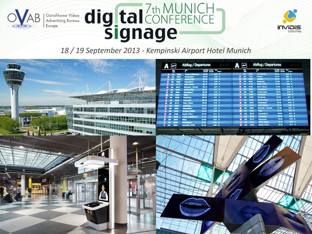 OVAB Digital Signage Conference Munich: Guided Tour im Flughafen München