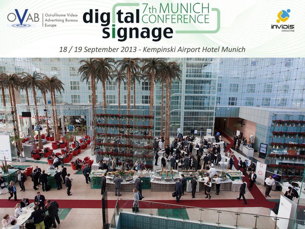 Volles Programm auf der OVAB Digital Signage Conference Munich