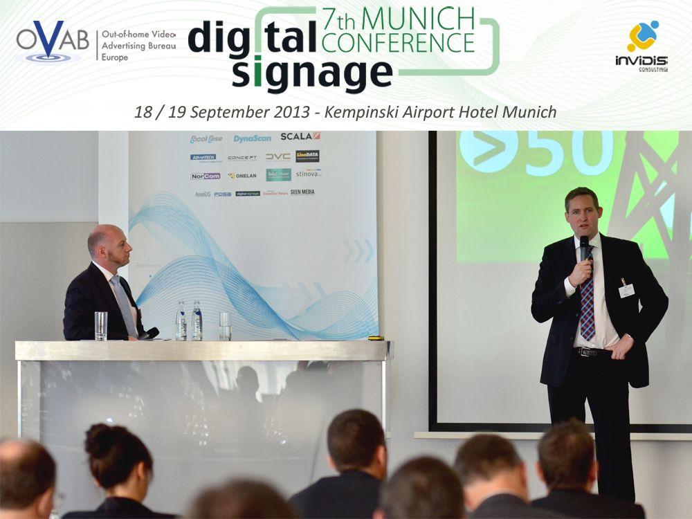 Das Programm zur OVAB Digital Signage Conference Munich steht