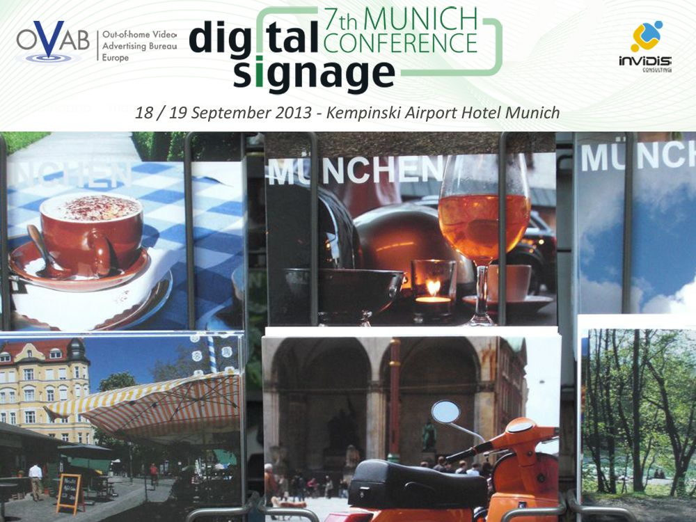 OVAB Digital Signage Conference Munich: Installation Tour durch die Münchner City
