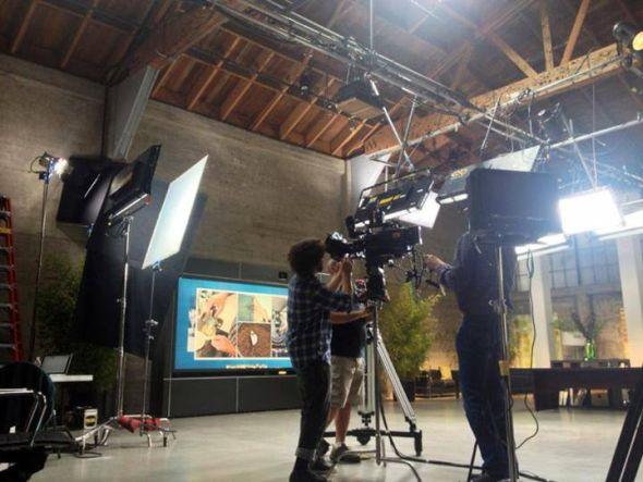 Vorbereitung zum Shooting: Prysm lässt aktuell einen TV-Spot produzieren (Foto: Prysm)