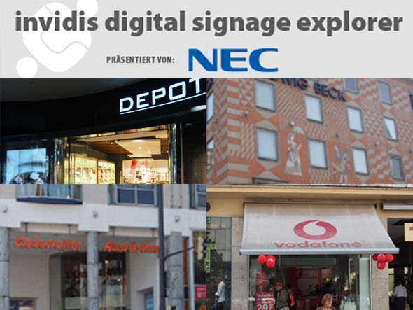 invidis digital signage explorer mit neuen Installationen