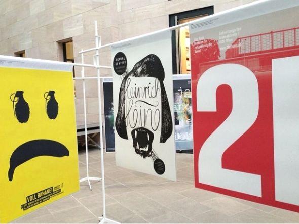 Motive aus der aktuellen Ausstellung - aufgenommen in Nürnberg (Foto: Johanna Ellerhold/ 100 Beste Plakate e. V.)
