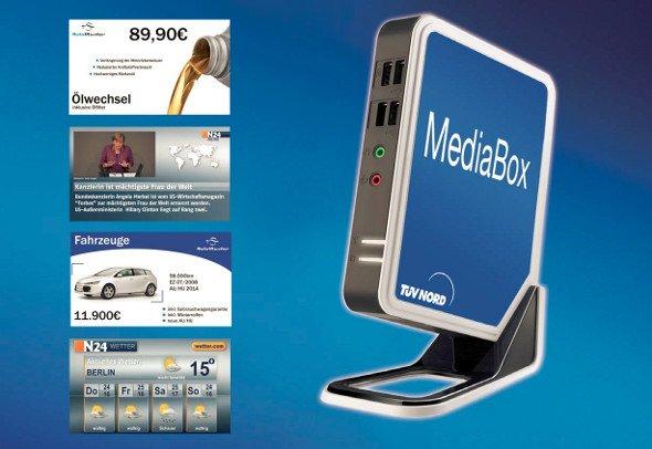 digital signage out of the box heineking media und t v. Black Bedroom Furniture Sets. Home Design Ideas