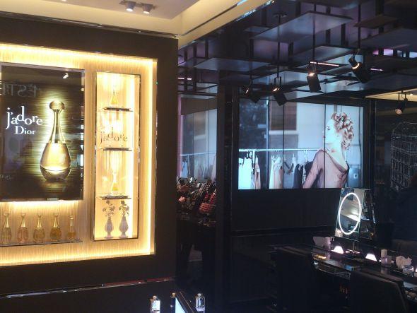 Dior-Store - als Agentur für Mediencontent war Digitalli verantwortlich (Foto: BrightSign)