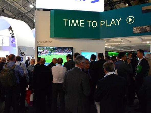 Rugby in 4K: Übertragung am Stand von Ericsson TV (Foto: Ericsson TV)