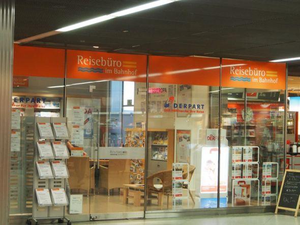 Eingangsbereich des Reisebüros im Bahnhof vor der Installation (Foto: Thomas Kletschke/ invidis.de)