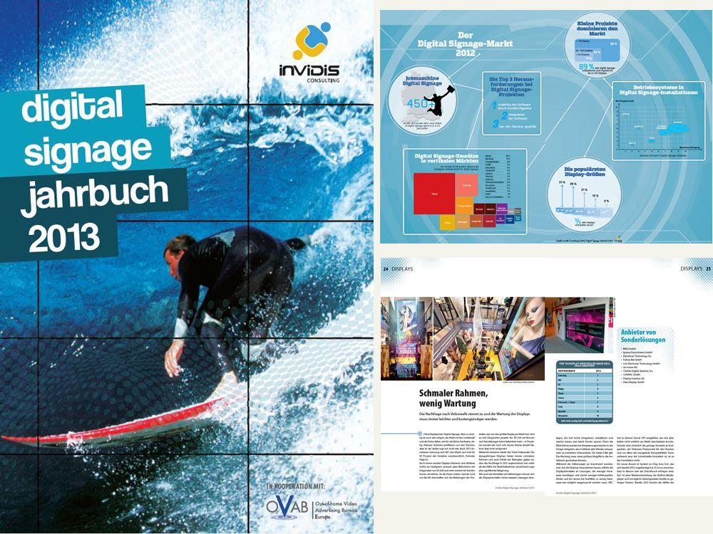 Auf 100 Seiten alles zur Branche: invidis Digital Signage Jahrbuch 2013