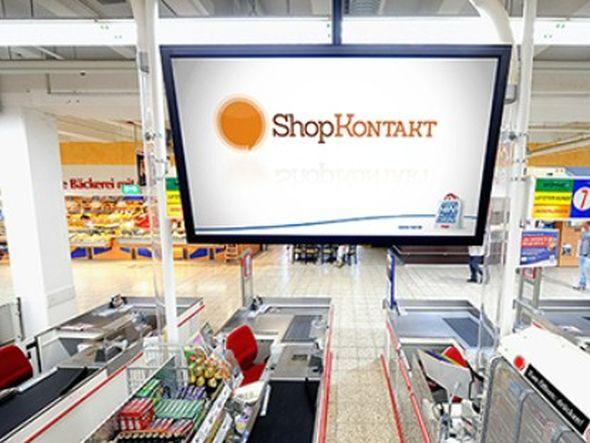 An den real-Kassen kommen Philips Public Signage-Displays vom Typ BDL4245E zum Einsatz (Foto: ALSO Deutschland GmbH)