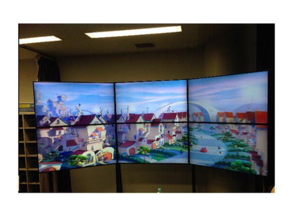 Insgesamt 12k an 3D-Content liefert diese neue Video Wall in Tokio (Foto: Dimenco)