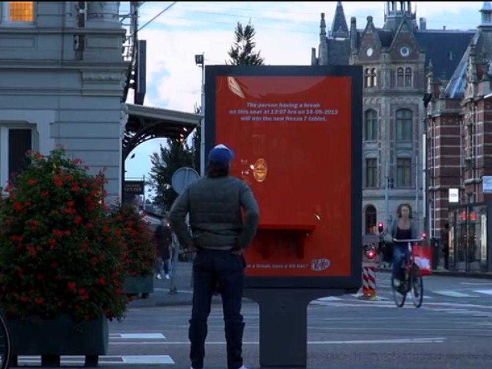 Kampagne für Android 4.4: KitKat wird outdoor beworben (Screenshot: invidis.de)