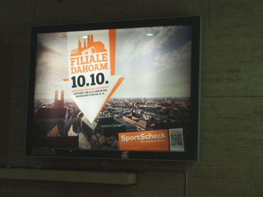 Regionale Kampagne: Motiv am Münchner Hautbahnhof (Foto: TK/ invidis.de)